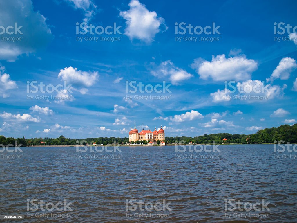 Palace Moritzburg in Saxony, Germany stock photo