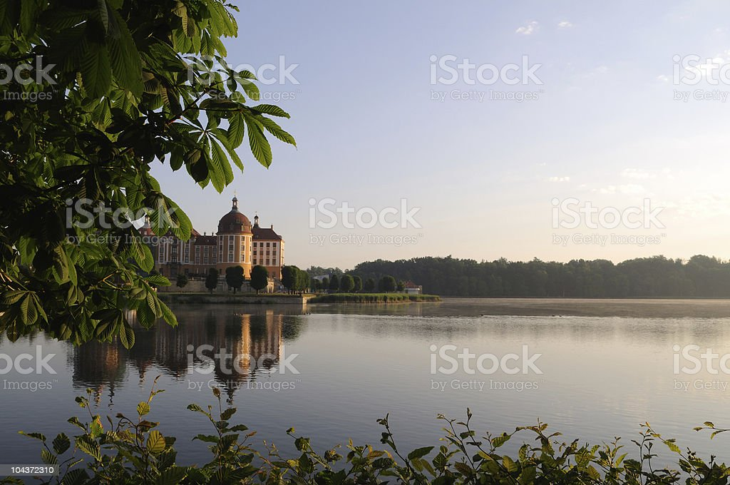 Palace Moritzburg Morning Time Sunrise stock photo