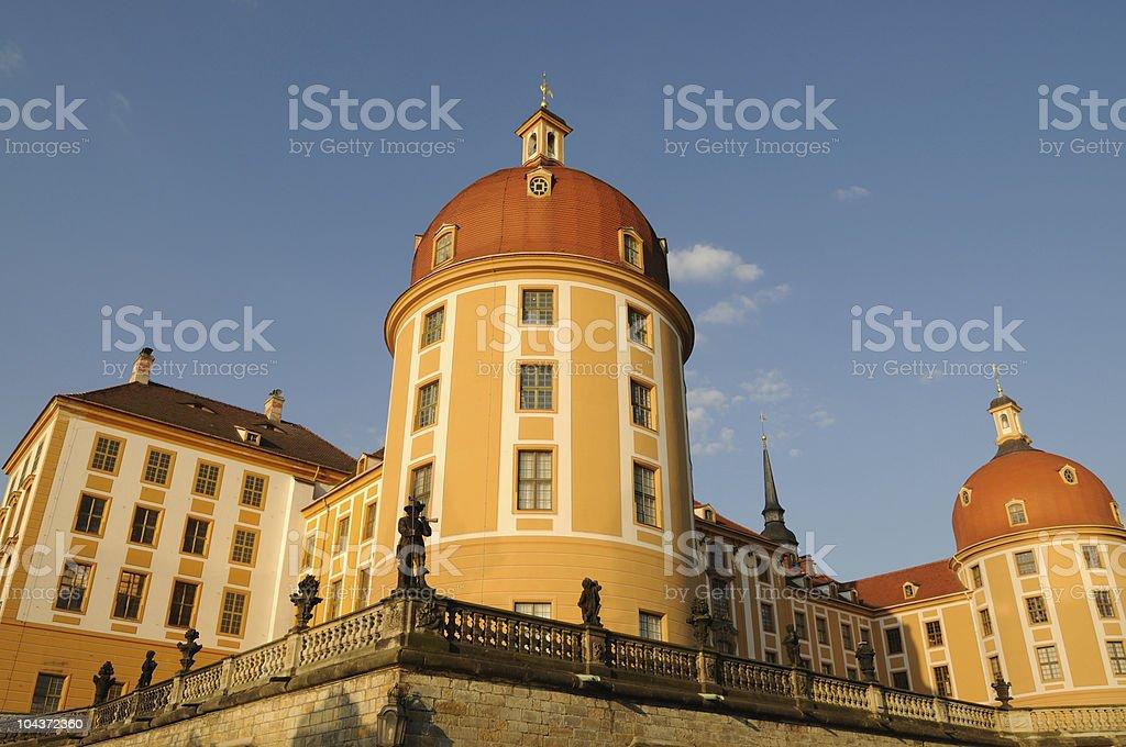 Palace Moritzburg Sunrise View stock photo