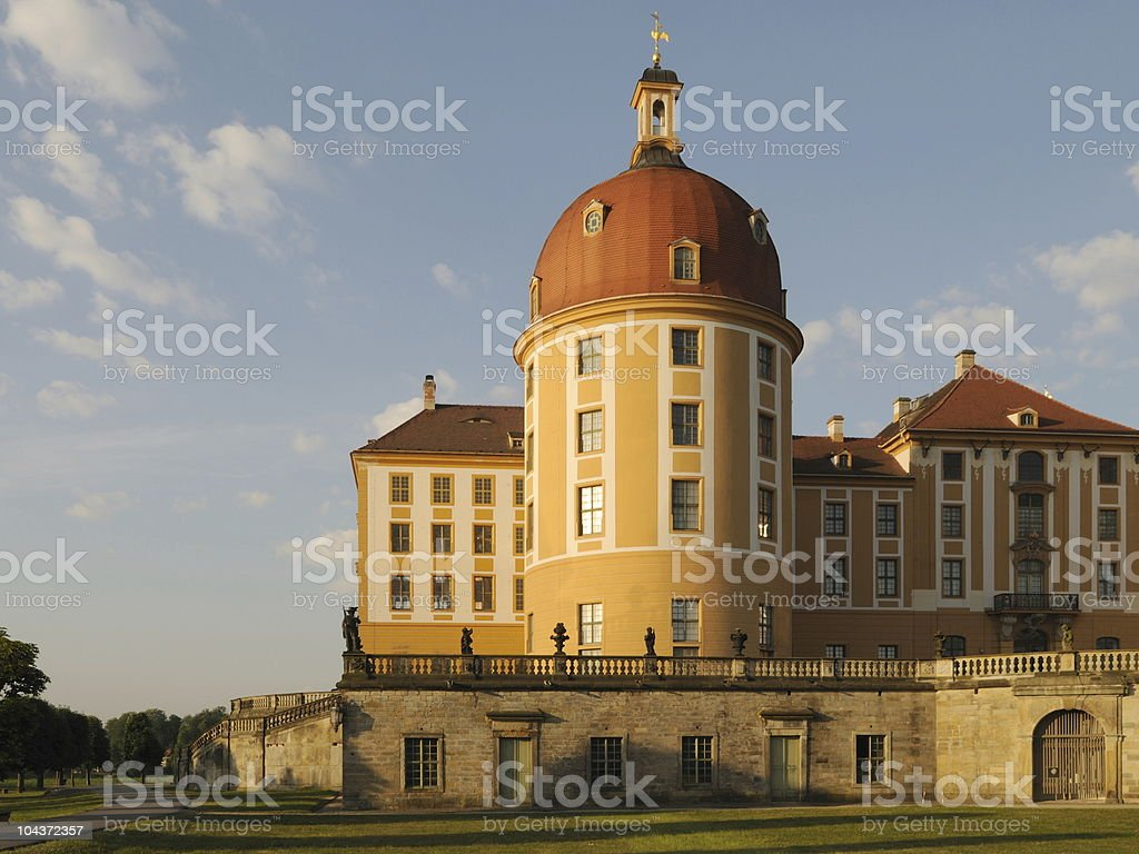 Palace Moritzburg Tower Part stock photo