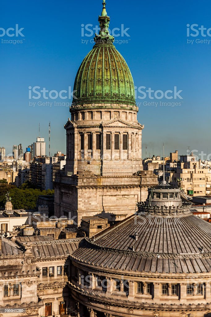Palace of Argentine the National Congress in Buenos Aires, Argentina stock photo