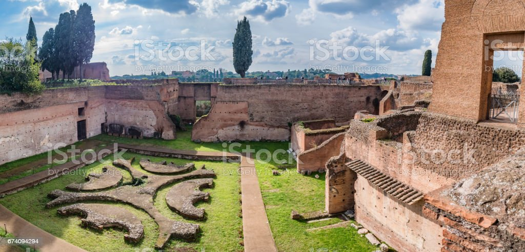 Palace of Augustus on Palatine hill in Rome stock photo