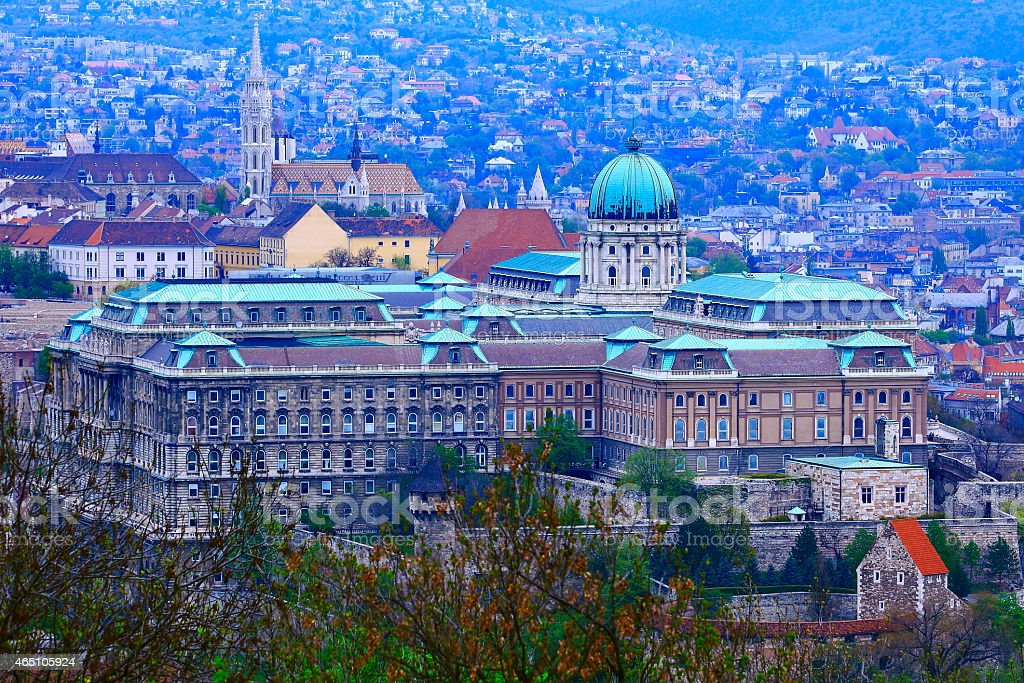 Palace of Buda, Matthias Church at evening - Budapest, Hungary stock photo