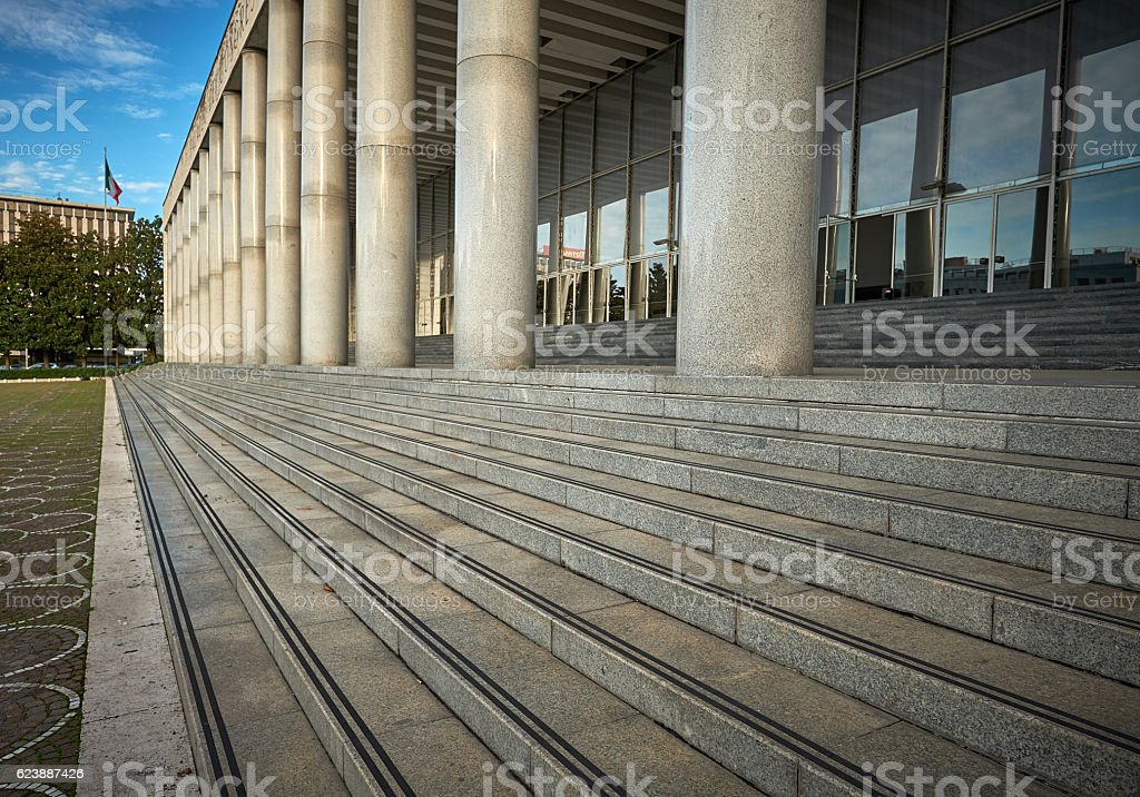 Palace of Congresses (Palazzo dei Congressi), EUR, Rome Italy stock photo