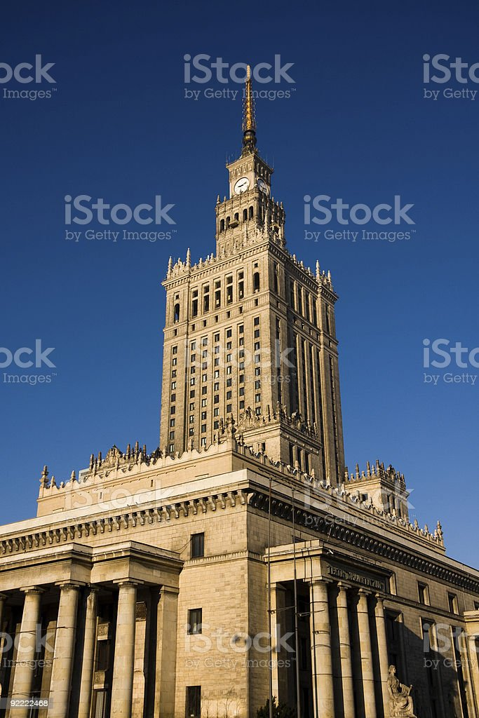 Palace of Culture and Science royalty-free stock photo