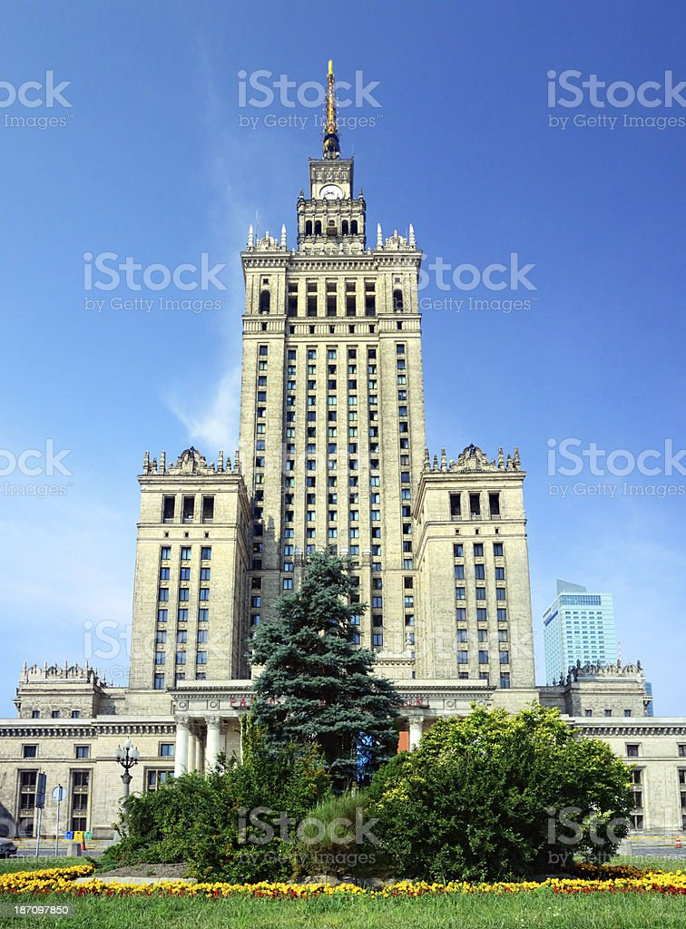 Palace of Culture and Science, Warsaw royalty-free stock photo