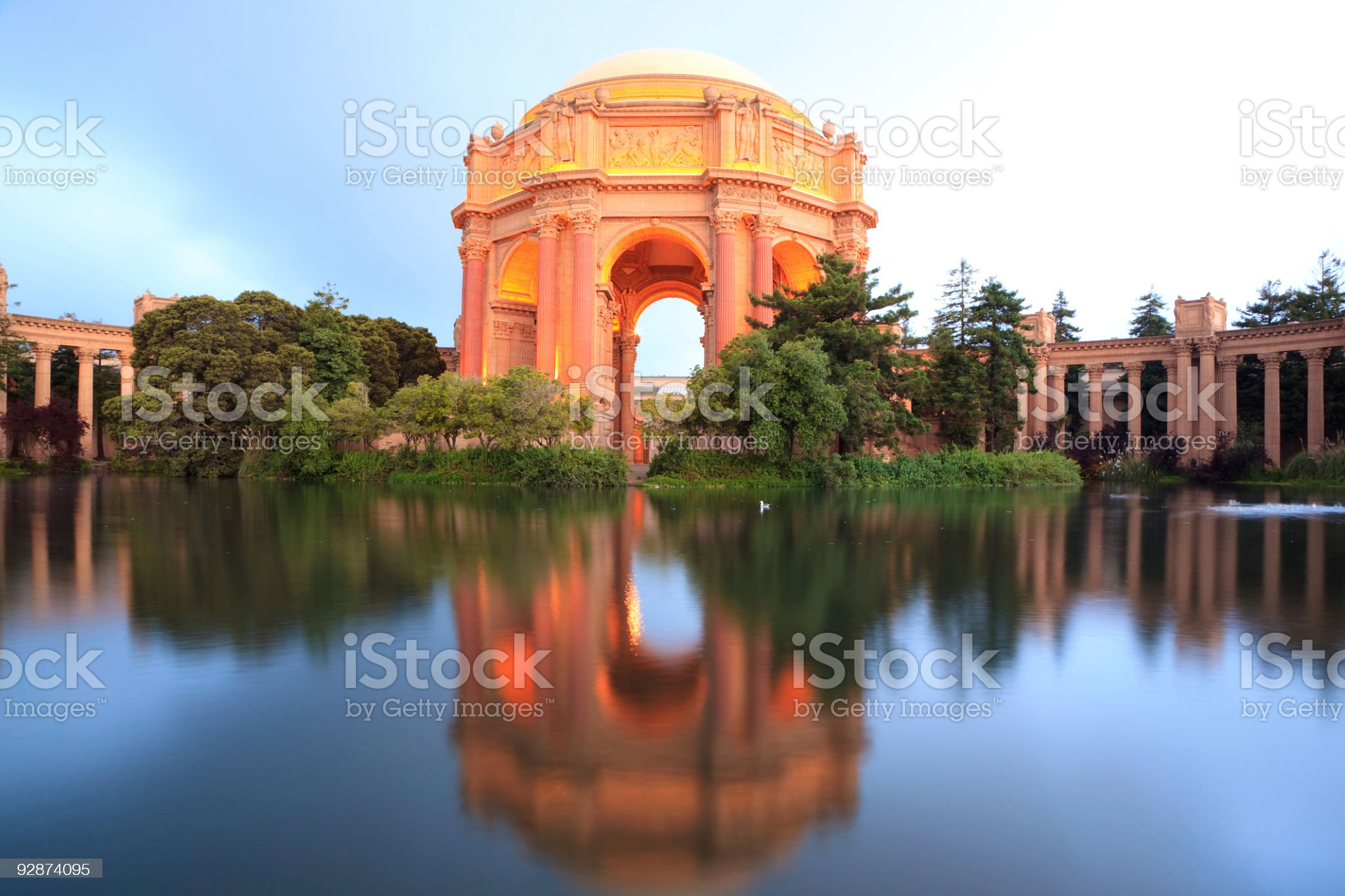 Palace of Fine Art royalty-free stock photo