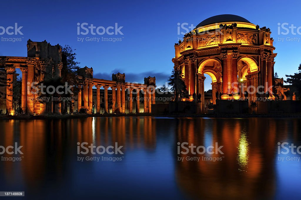 Palace of Fine Art San Francisco stock photo