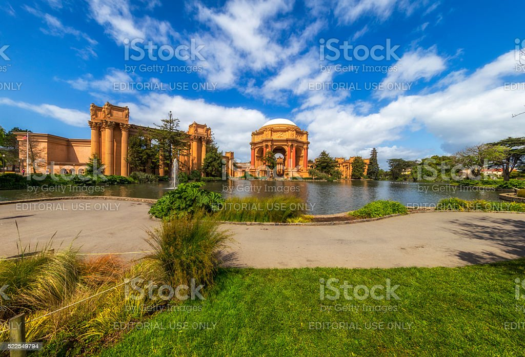 Palace of fine Arts at San Francisco stock photo