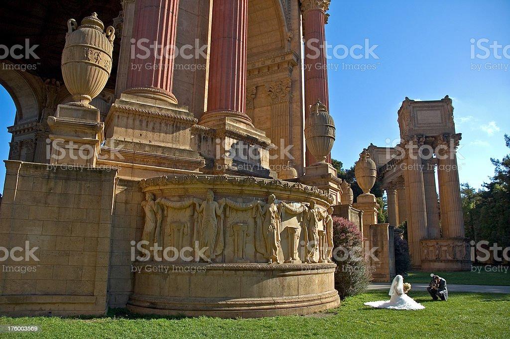 Palace of Fine Arts sposa foto foto stock royalty-free