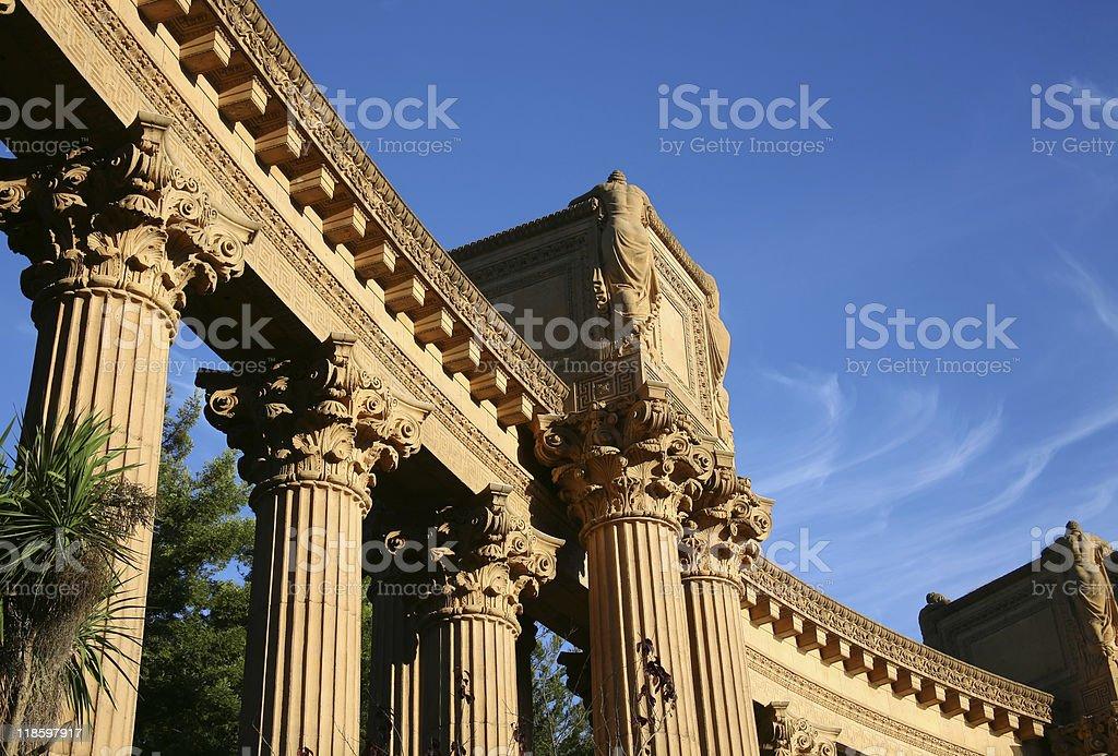 Palace of Fine Arts Columns - San Francisco, California stock photo