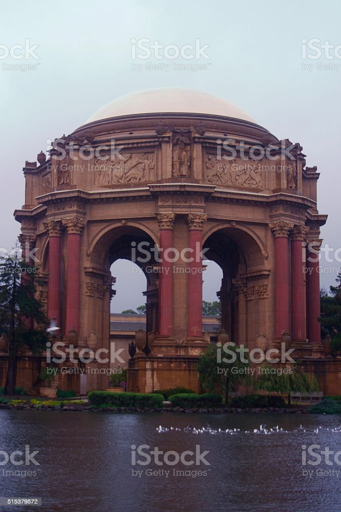 Palace of Fine Arts Dome in San Francisco stock photo