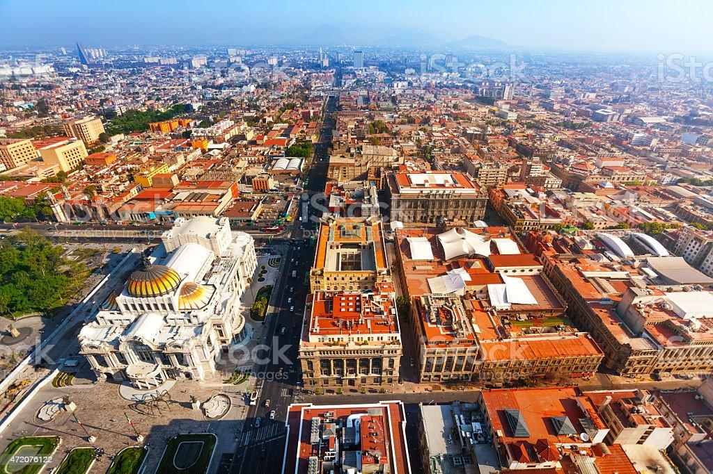 Palace of fine arts from Torre Latinoamericana stock photo