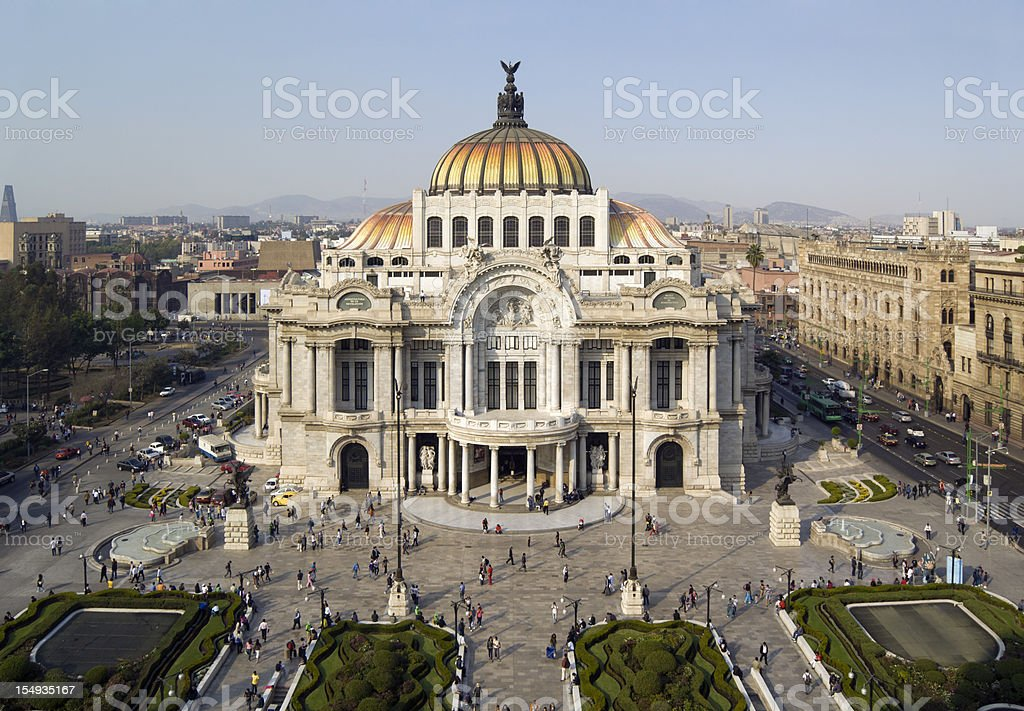 Palacio de Bellas Artes in Mexico City royalty-free stock photo