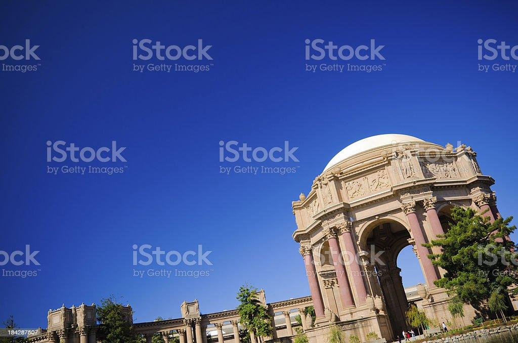 Palace of Fine Arts in San Francisco, CA stock photo