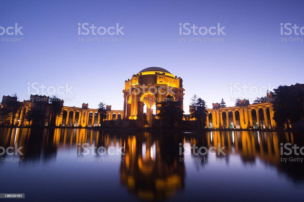 Palace of Fine Arts in San Francisco, California stock photo
