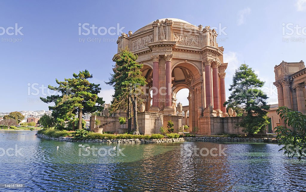 Palace of Fine Arts in San Francisco stock photo