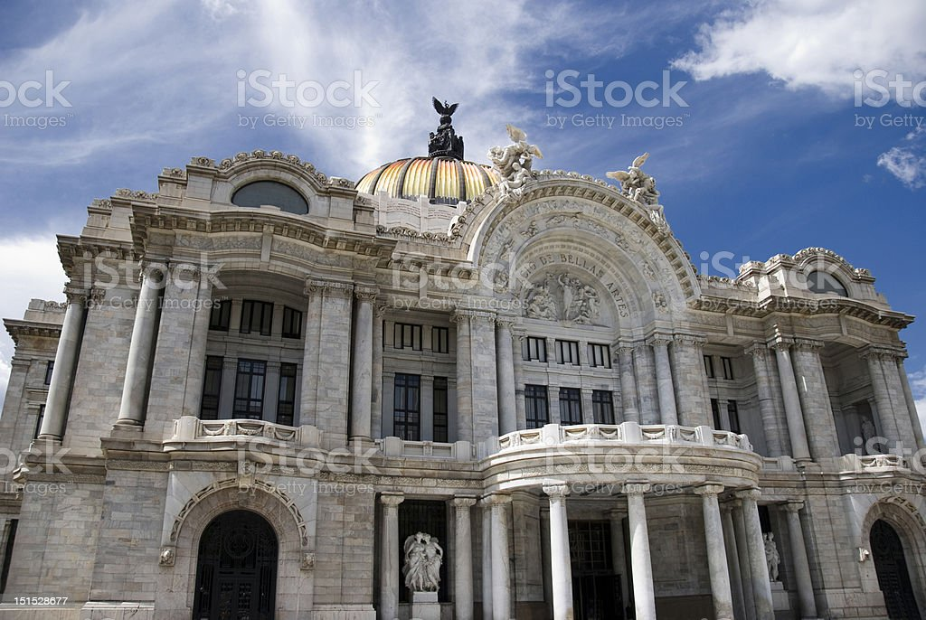 Palacio de Bellas Artes, Mexico City royalty-free stock photo