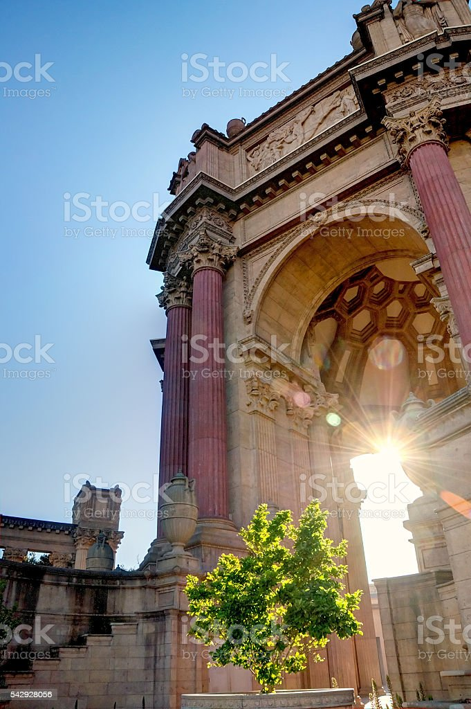 Palace of Fine Arts Museum in San Francisco stock photo