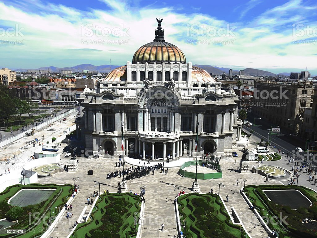 Palacio de Bellas Artes stock photo