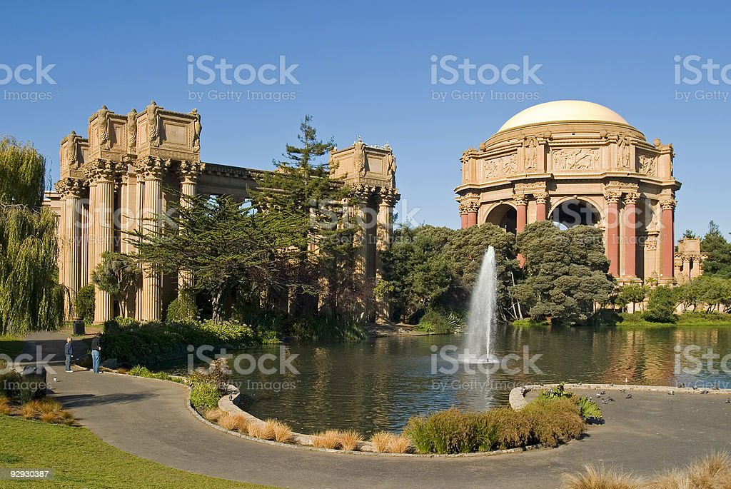 Palace of fine arts royalty-free stock photo