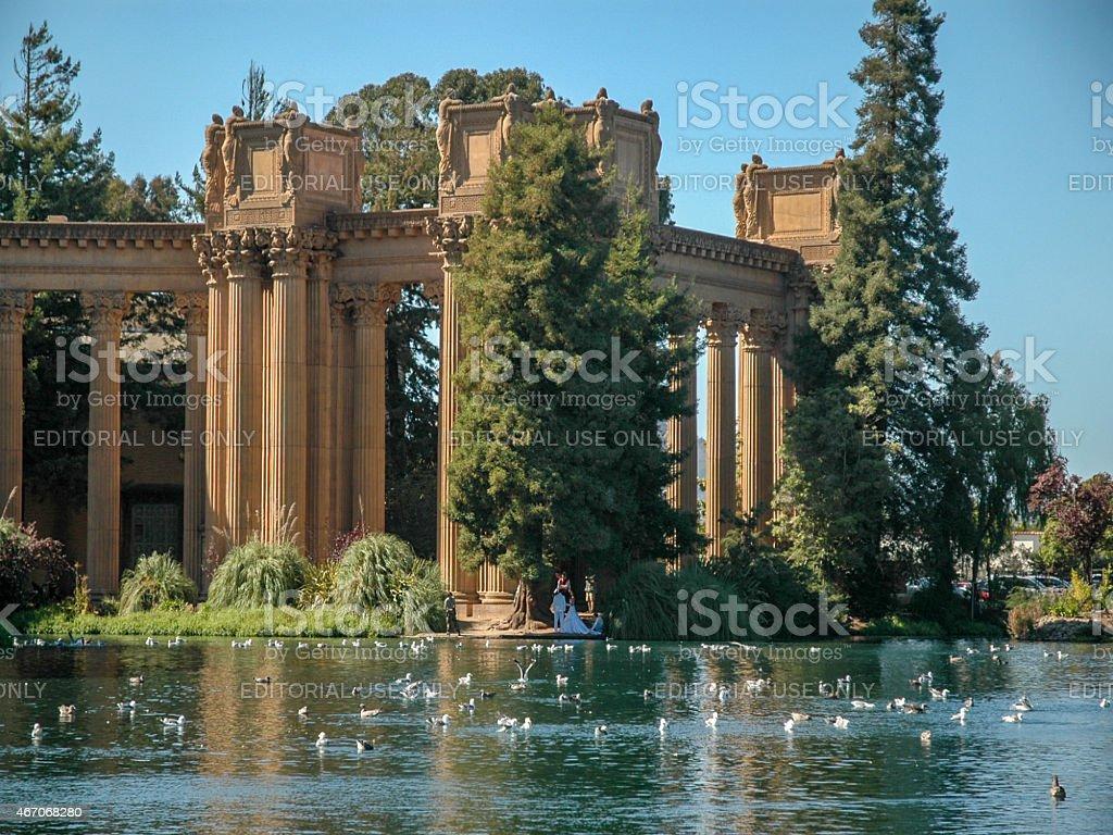 Palace of Fine Arts, Presidio stock photo