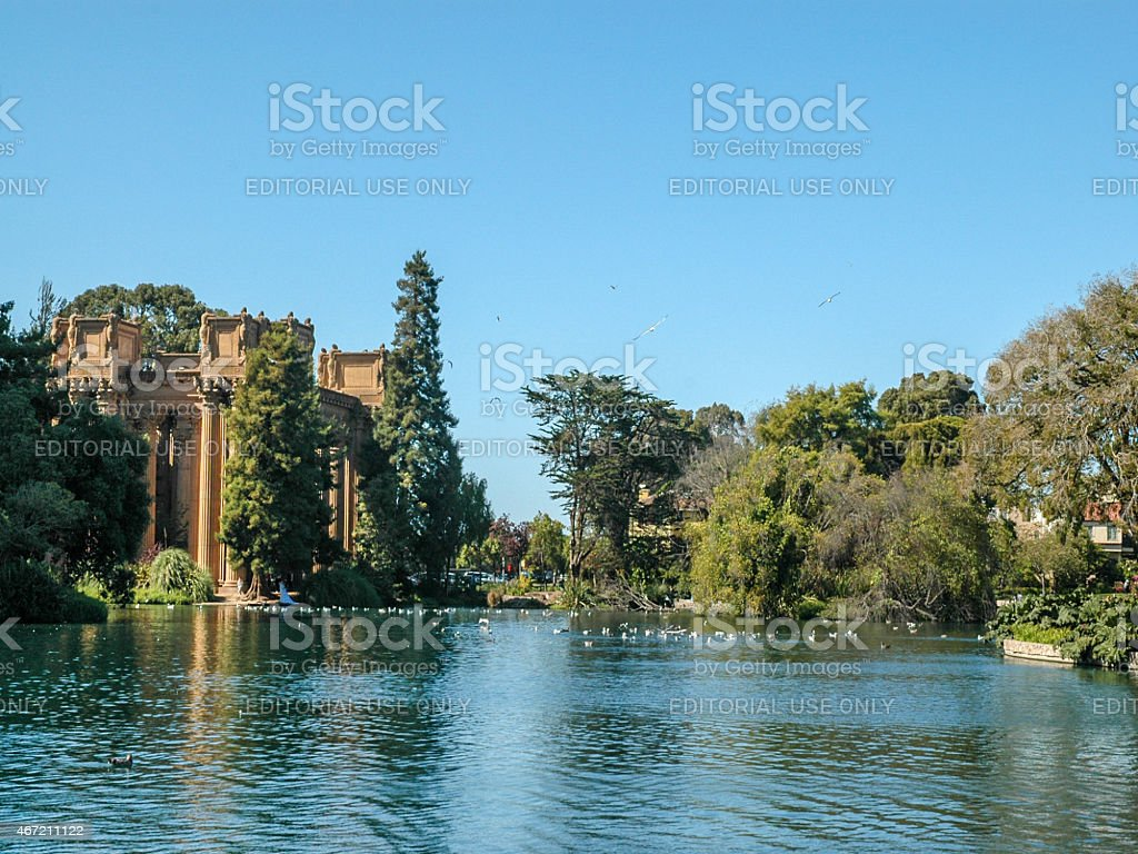 Palace of Fine Arts, Presidio stock photo