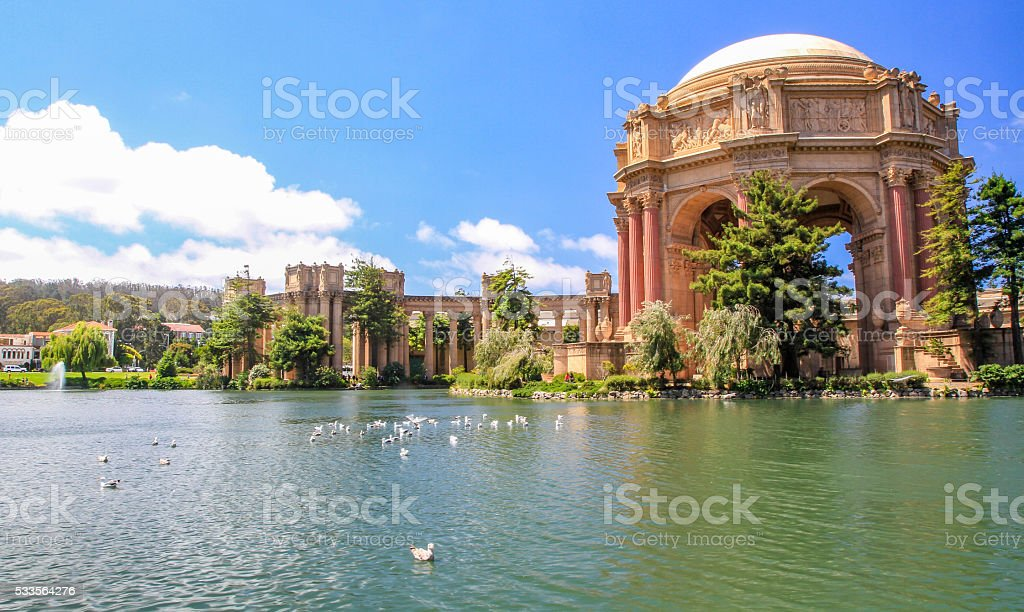 Palace of Fine Arts San Francisco, California, USA stock photo