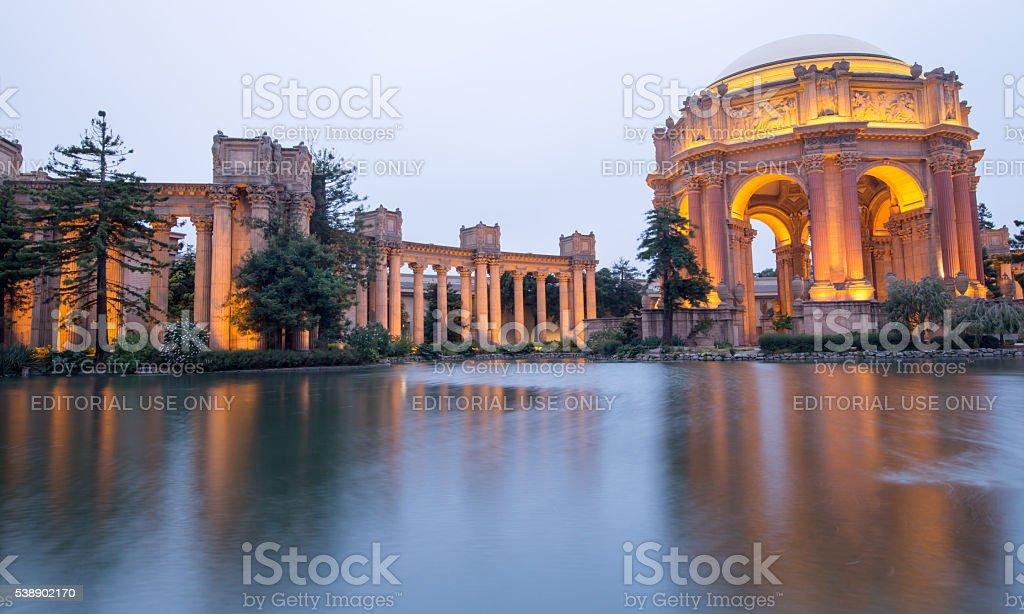 Palace Of Fine Arts, San Francisco, Dusk stock photo