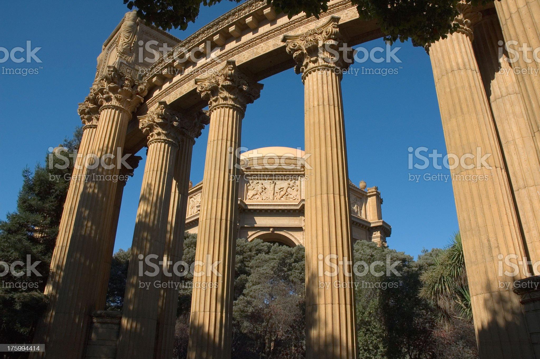 Palace of Fine Arts San Francisco royalty-free stock photo