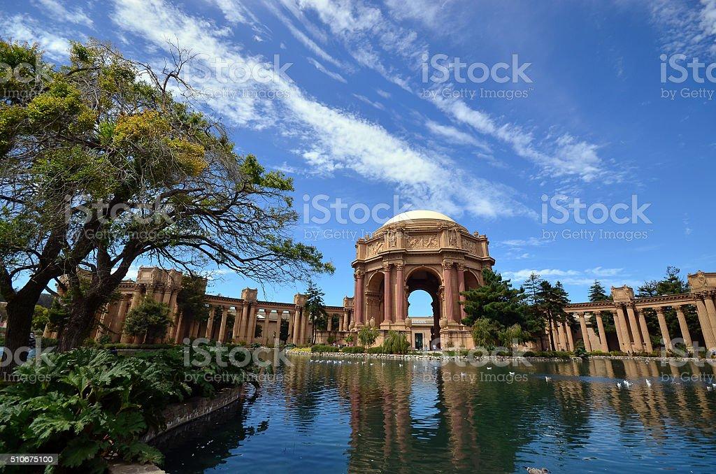 Palace of fine arts San Francisco stock photo