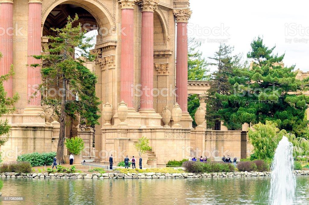 Palace of Fine Arts, San Francisco stock photo