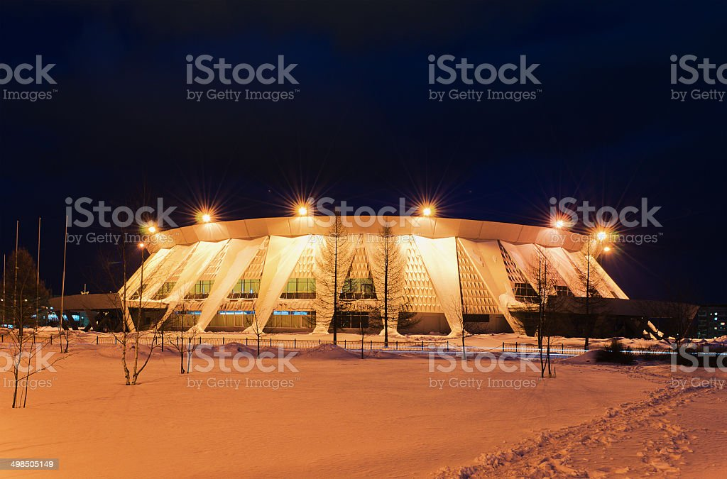 Palace of ice sports in Russia stock photo