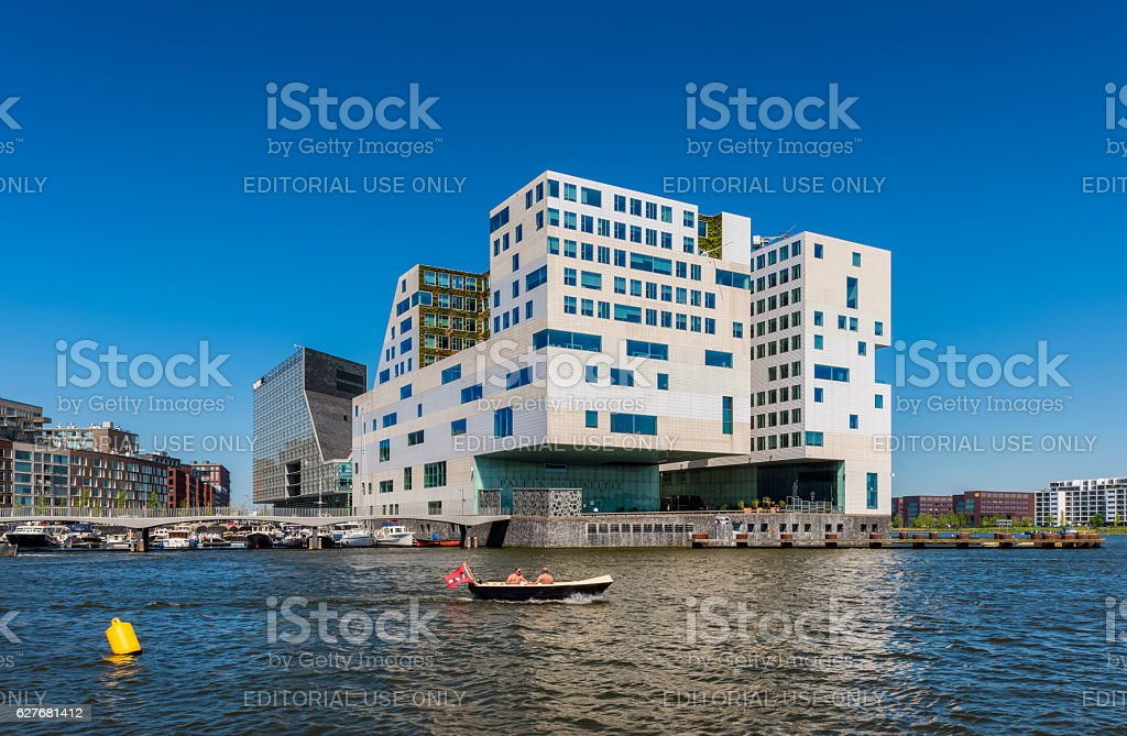 Palace of Justice Amsterdam stock photo