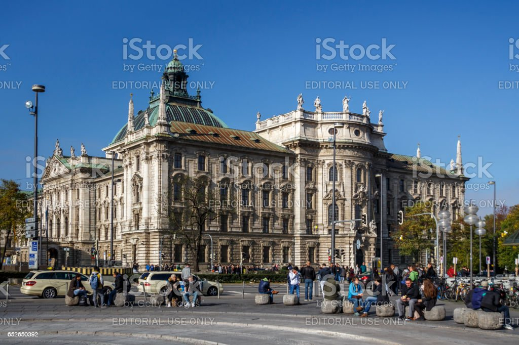 Palace of Justice in Munich, Germany, 2015 stock photo