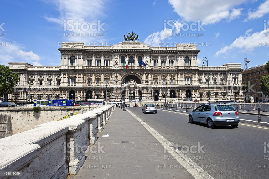 Palace Of Justice In Rome, Italy royalty-free stock photo