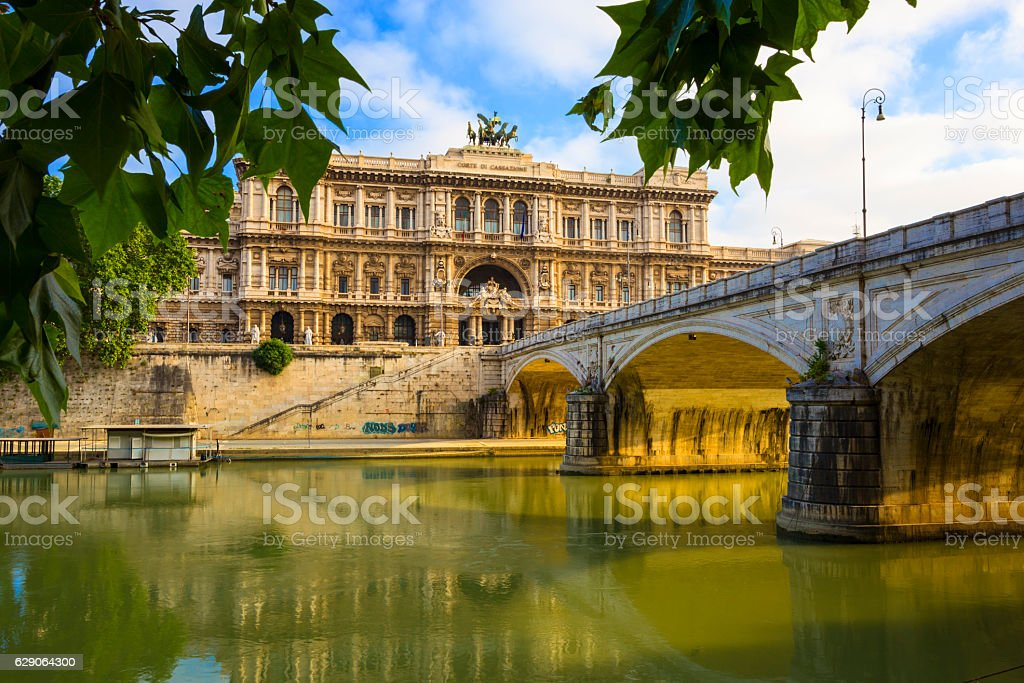 Palace of Justice in Rome, Italy stock photo