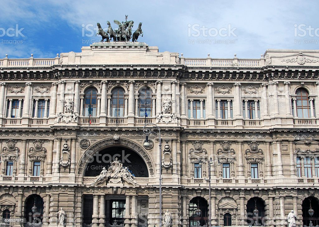 Palace of Justice in Rome stock photo
