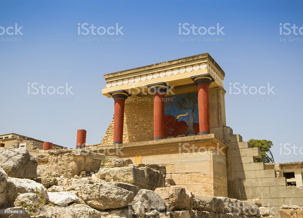 Palace of Knossos, Crete, Greece stock photo