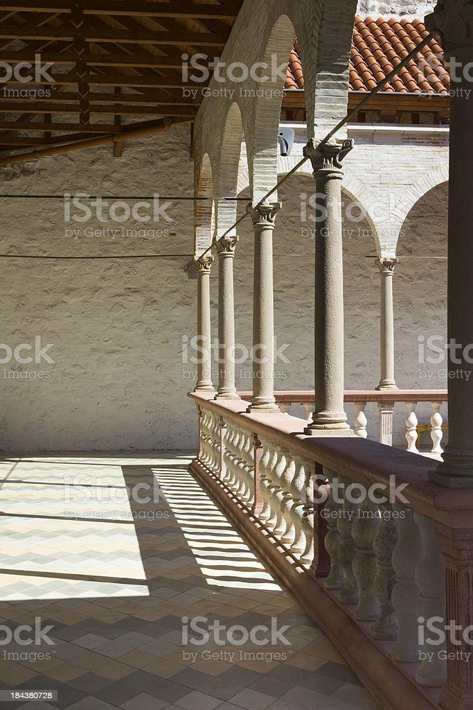 Palace of Matthias Corvinus stock photo