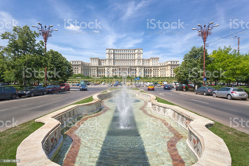 Palace of Parliament in daytime stock photo