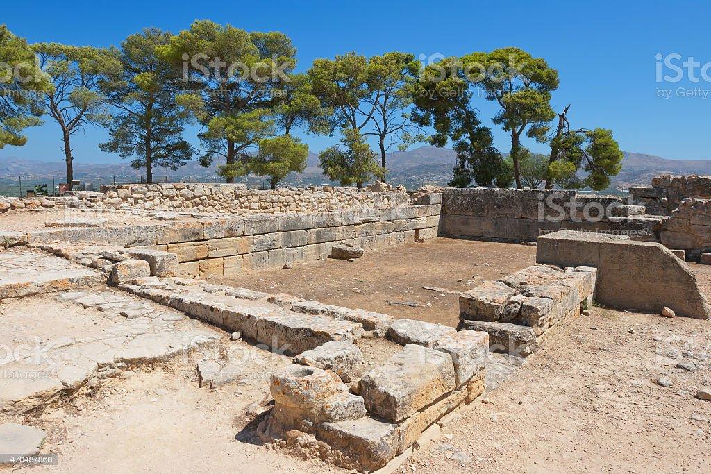 Palace of Phaistos. Crete, Greece stock photo