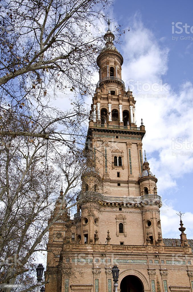 Palace of plaza de Espa?a, Seville. royalty-free stock photo
