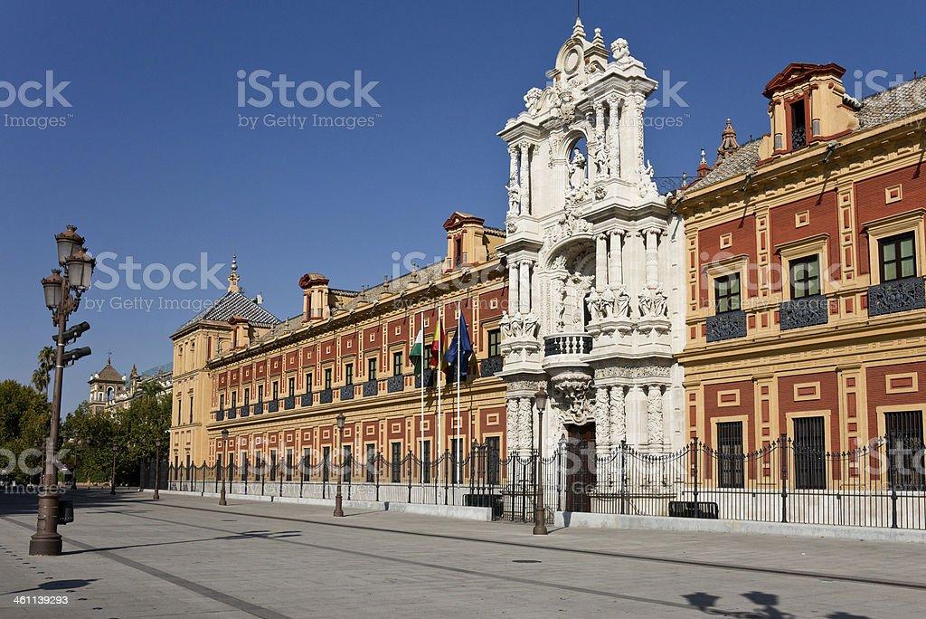 Palace of San Telmo in Sevilla, Spain royalty-free stock photo