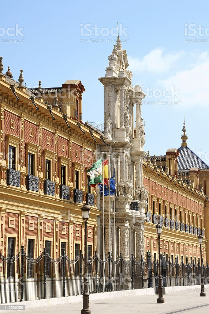 Palace of San Telmo in Seville royalty-free stock photo