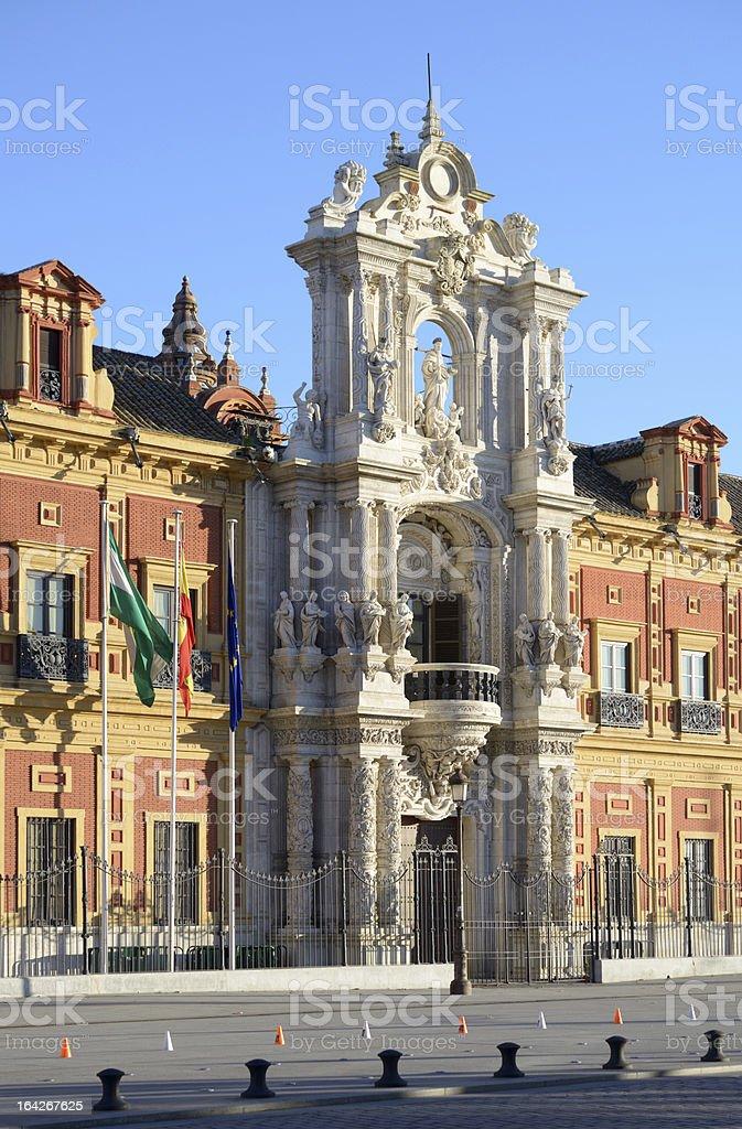 Palace of San Telmo, Seville royalty-free stock photo