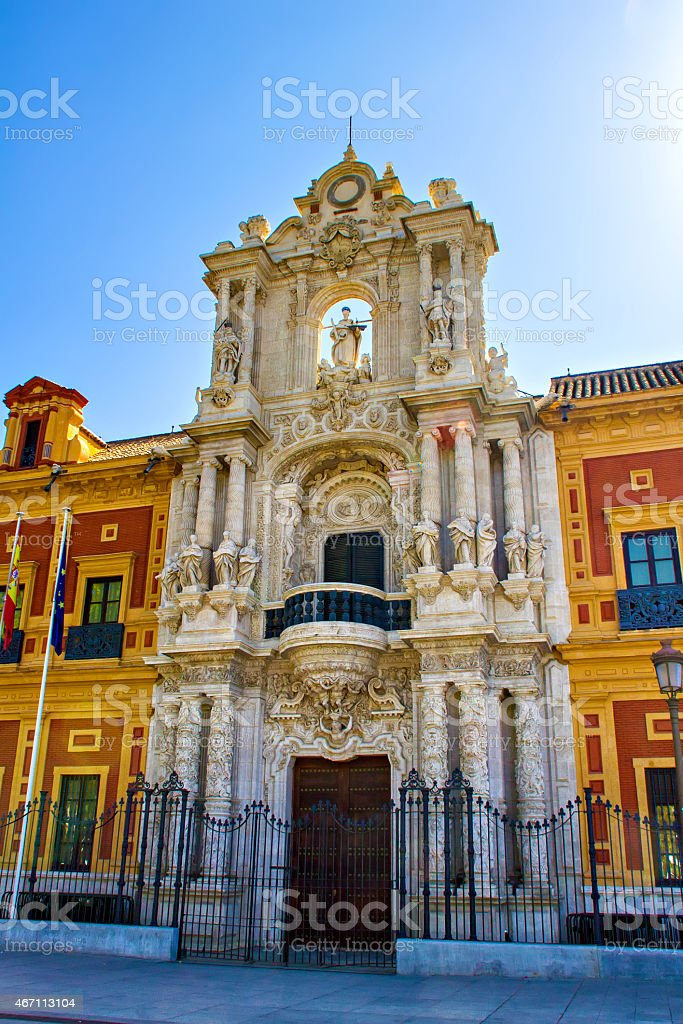Palacio de San Telmo, Seville stock photo