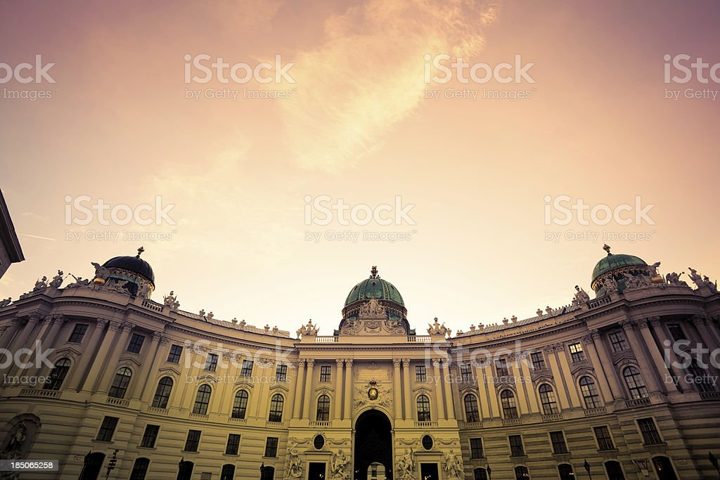 Palace of Spanish Riding School in Michaelerplatz, Vienna, Europe stock photo