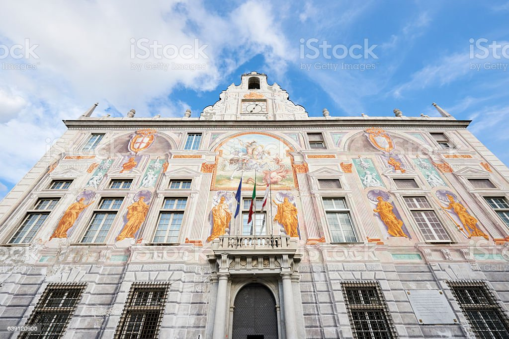 Palace of St. George in Genoa stock photo