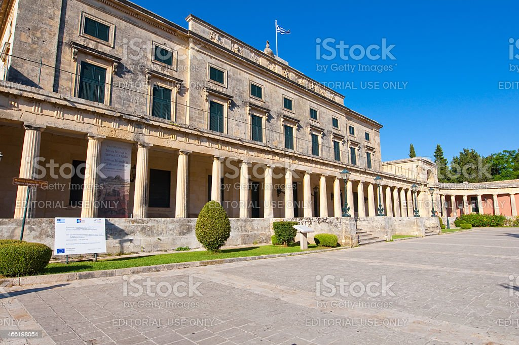 Palace of St. Michael and St. George. Kerkyra. stock photo